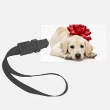 Yellow Lab Puppy Luggage Tag