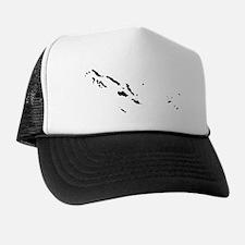 Solomon Islands Silhouette Trucker Hat