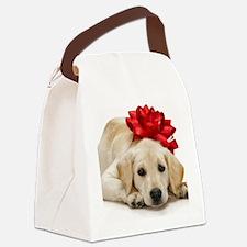Cute Labrador puppy Canvas Lunch Bag