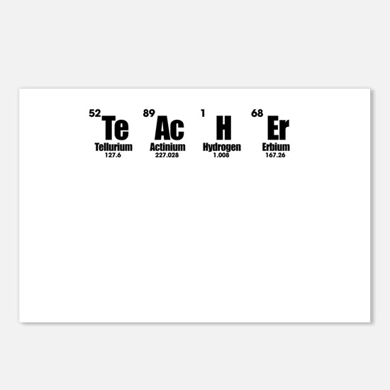 """Teacher"" in Periodic Tab Postcards (Package of 8)"