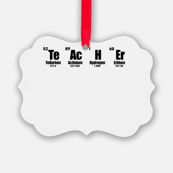 """Teacher"" in Periodic Table Style Ornament"