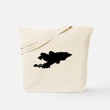 Kyrgyzstan Silhouette Tote Bag