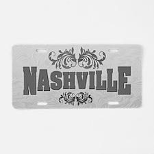 Vintage Nashville LP-03 Aluminum License Plate