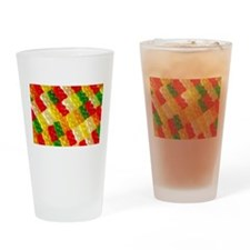 Colorful rows of gummi bears Drinking Glass