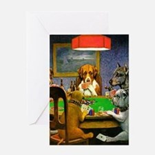 Dogs Playing Poker Greeting Cards