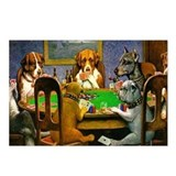 Dogs playing poker Postcards