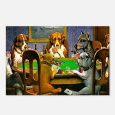 Dogs Playing Poker Postcards (Package of 8)