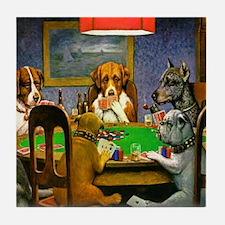 Dogs Playing Poker Tile Coaster