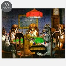 Dogs Playing Poker Puzzle