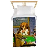 Dogs playing poker Twin Duvet Covers