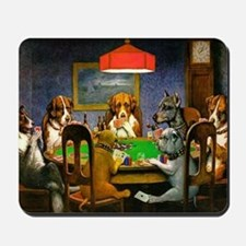Dogs Playing Poker Mousepad