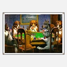 Dogs Playing Poker Banner