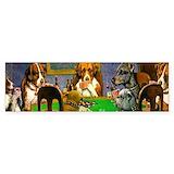 Dogs playing poker Single