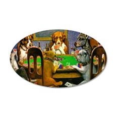 Dogs Playing Poker Wall Sticker