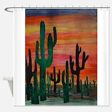 Unique Desert Shower Curtain