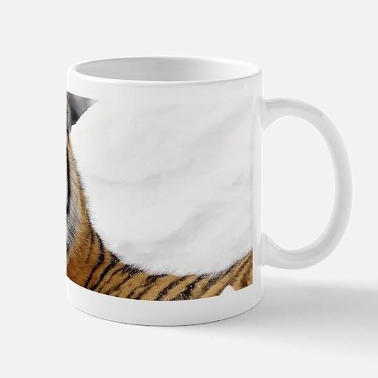 Tiger In Snow Mugs