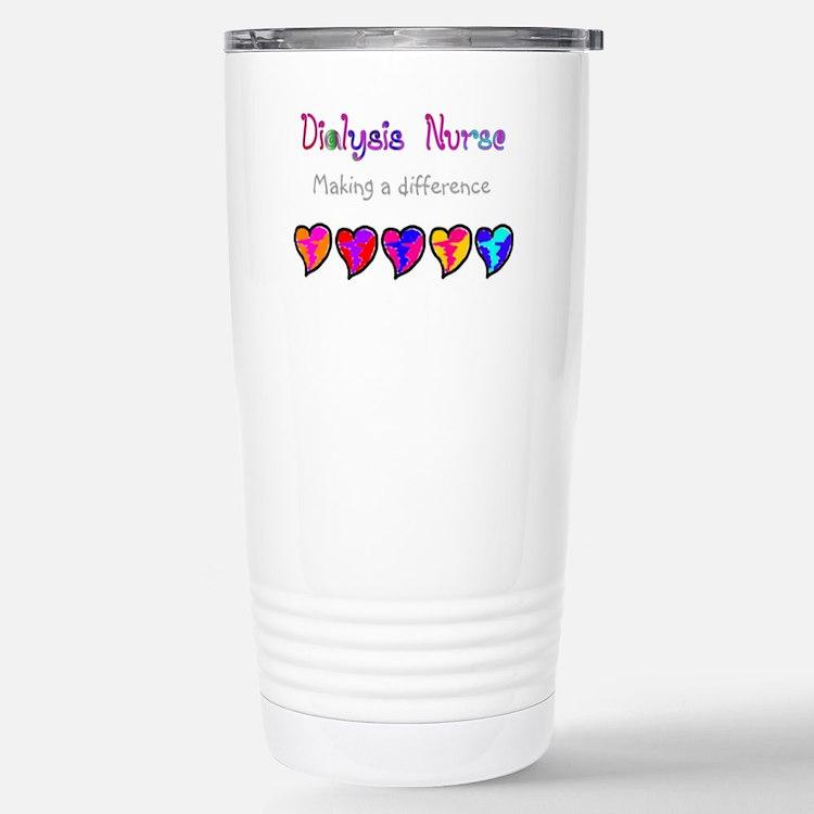 Cute Dialysis nurse Travel Mug