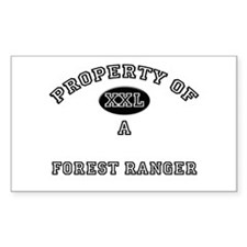 Property of a Forest Ranger Rectangle Decal
