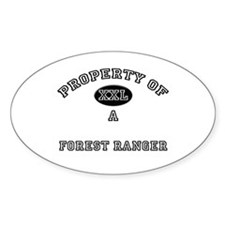 Property of a Forest Ranger Oval Decal