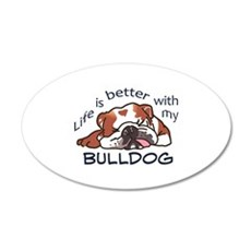 Better With Bulldog Wall Decal