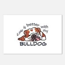 Better With Bulldog Postcards (Package of 8)