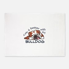 Better With Bulldog 5'x7'Area Rug