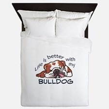 Better With Bulldog Queen Duvet