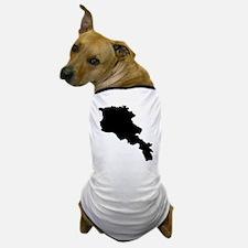 Armenia Silhouette Dog T-Shirt