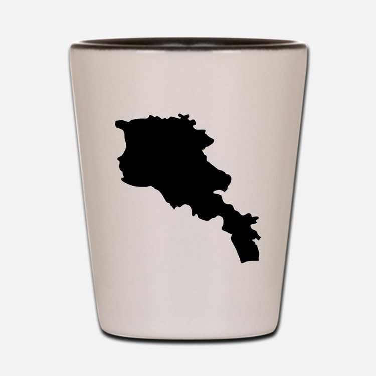 Armenia Silhouette Shot Glass