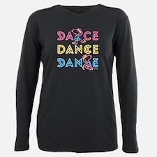 Peanuts Dance Plus Size Long Sleeve Tee