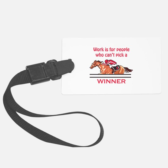Pick A Winner Luggage Tag