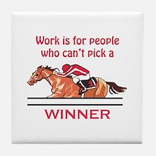Pick A Winner Tile Coaster