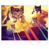 Cool cat in outer space Wrapped Canvas Art