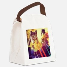 Cool Cat lovers Canvas Lunch Bag