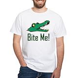 Alligator Mens Classic White T-Shirts