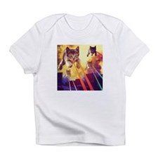 Laser Eyes Space Cats Flying T-Shir Infant T-Shirt