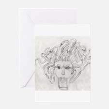 Medusa drawing Greeting Cards