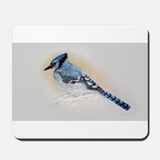 Blue Jay Drawing Mousepad