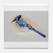 Blue Jay Drawing Tile Coaster