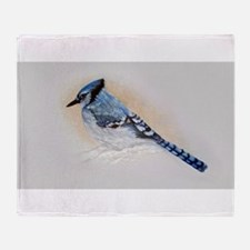 Blue Jay Drawing Throw Blanket