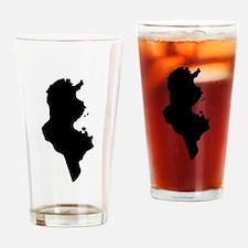 Tunisia Silhouette Drinking Glass