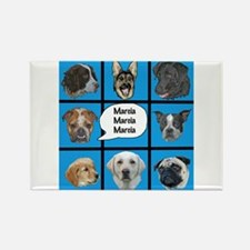 Silly dogs spoof Rectangle Magnet
