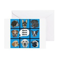 Silly dogs spoof Greeting Card