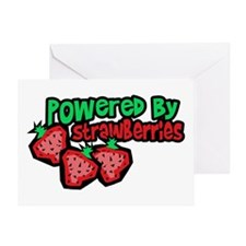 Powered By Strawberries Greeting Card