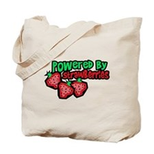 Powered By Strawberries Tote Bag