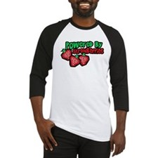 Powered By Strawberries Baseball Jersey