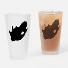 South Africa Silhouette Drinking Glass