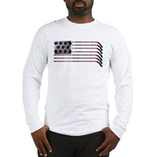 US Hockey Flag Long Sleeve T-Shirt