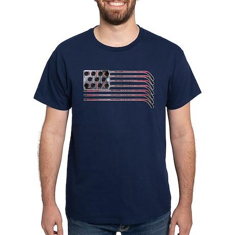 US Hockey Flag Dark T-Shirt