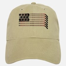 US Hockey Flag Baseball Baseball Cap